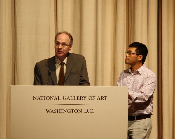 Robert Schultz and Binh Danh at the National Gallery of Art, Washington, DC