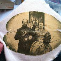 Leafprint in progress by Danh & Schultz