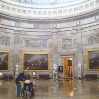 A Harkin aid gives Bob a Capitol tour.