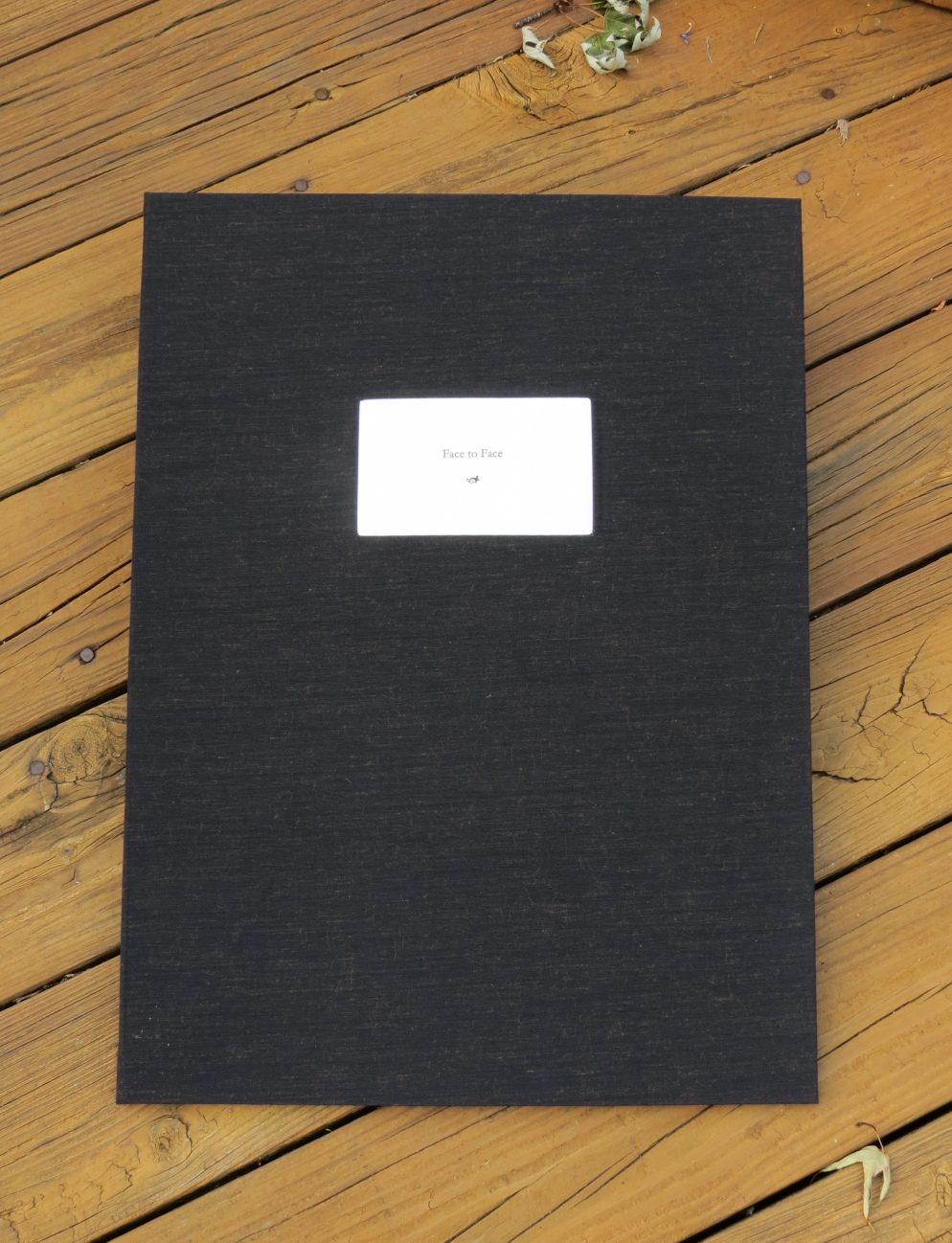 Face to Face artist book cover